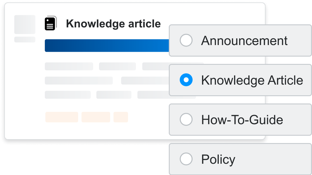 Choosing the article content type