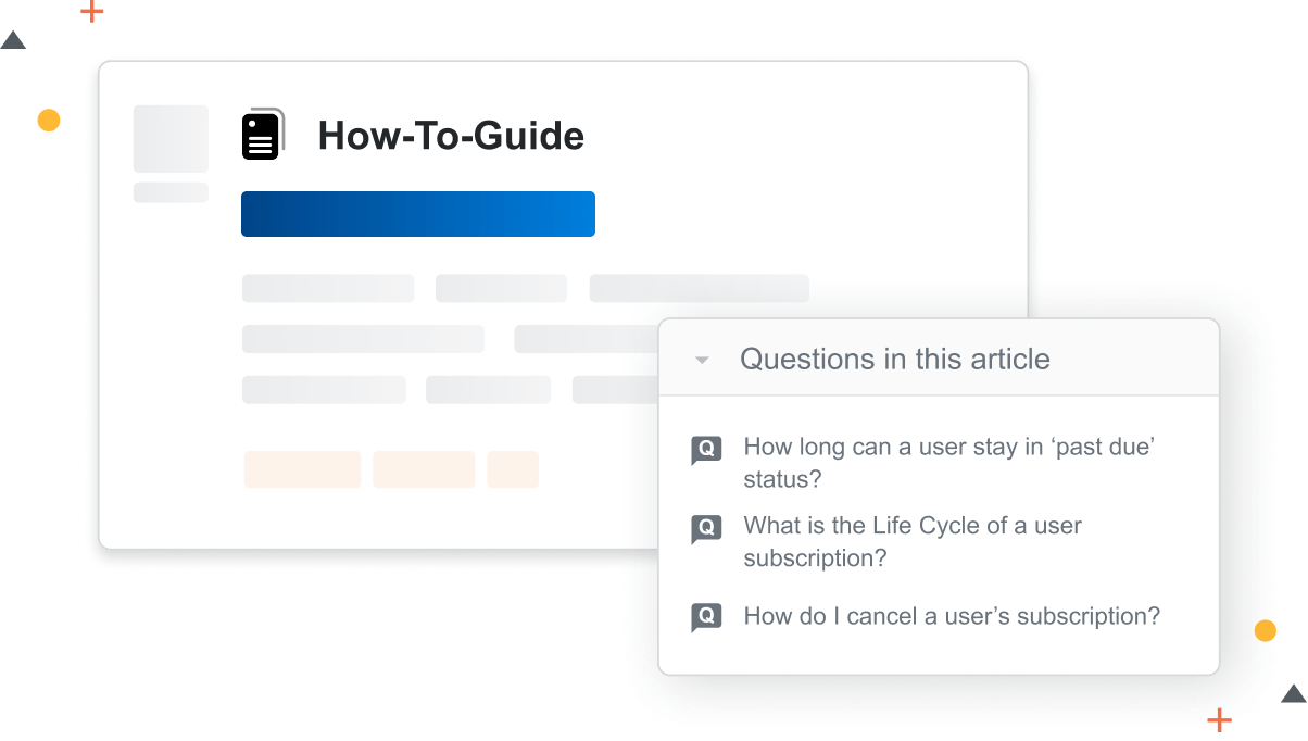 Showing links to questions from articles