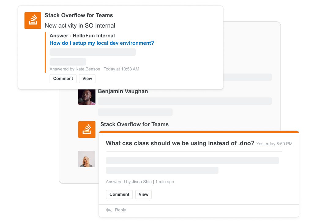 Slack notification message screenshot