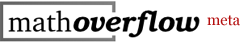 MathOverflow Meta