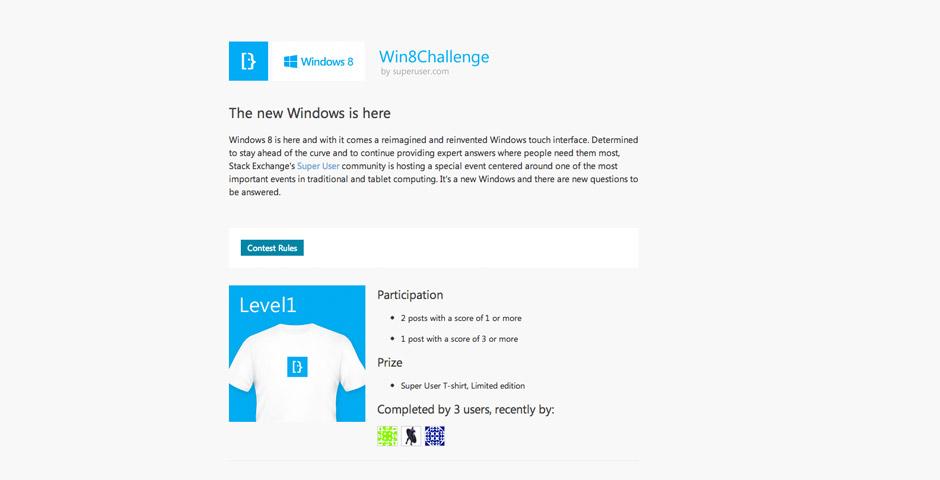 Windows 8 Challenge